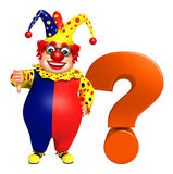 Clown with Question mark Stock Image