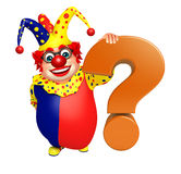 Clown with Question mark sign Stock Photography
