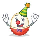 Clown rambutan mascot cartoon style. Vector illustration Stock Images