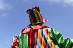 Clown. Rear view colorful image royalty free stock photo