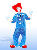 Clown with red Stock Images