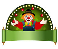 Clown with red balls Stock Images