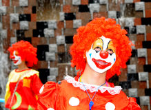 The clown with red hair Stock Photos