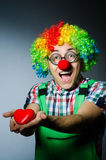 Clown with red heart Royalty Free Stock Photo
