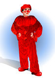 Clown in a red suit Royalty Free Stock Photos
