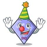 Clown rhombus mascot cartoon style. Vector illustration vector illustration
