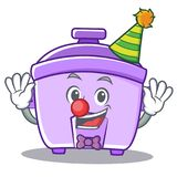 Clown rice cooker character cartoon. Vector illustration Royalty Free Stock Image