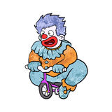 Clown riding cartoon Stock Photography