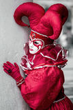 Clown rouge de masque Photo libre de droits