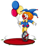 A clown running around in circle Royalty Free Stock Image