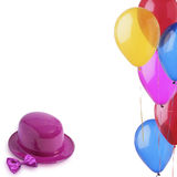 Party. Clown's hat and colorful balloons Royalty Free Stock Image