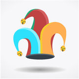 Clown`s hat, fool`s day. Holliday, circus royalty free illustration