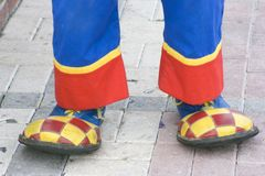 Clown's shoes Royalty Free Stock Photos