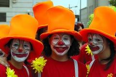 clown s tre arkivfoto