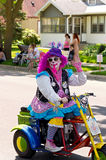 Clown on Scooter Royalty Free Stock Image