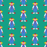Clown seamless pattern Royalty Free Stock Photography