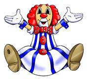 Clown. 'seated and colored clown's illustration Royalty Free Stock Photography