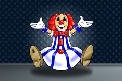 Clown. 'seated and colored clown's illustration Stock Photos
