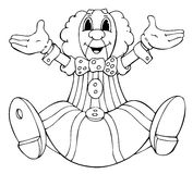 Clown. 'seated clown's illustration without coloring Royalty Free Stock Photo