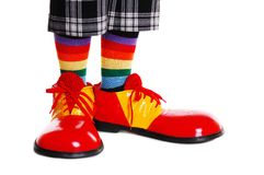 Clown shoes Royalty Free Stock Photo