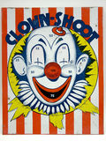 Clown Shoot Target Game Toy stock photography