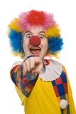 Clown shouting. Funny clown isolated on white background Royalty Free Stock Photos