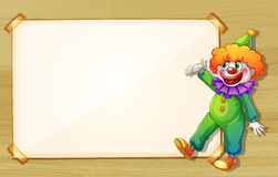 A clown showing the empty board Stock Images