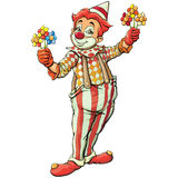 Clown. Single clown on white background royalty free illustration
