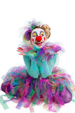 Clown sitting in indian style Royalty Free Stock Photo