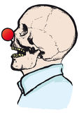 Clown skull Stock Images