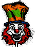 Clown. Smiling clown in colored hat vector illustration