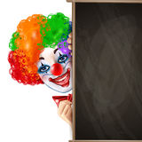 Clown Smiling Face From achter Bord royalty-vrije illustratie