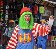 Clown Smiling and Waving. Clown waving during parade on boardwalk at Seaside shore during Clownfest. Taken September 14, 2014 Royalty Free Stock Image