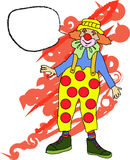 Clown with speech bubble Royalty Free Stock Images