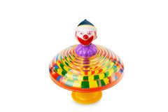 Clown spin top isolated Stock Image