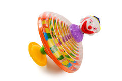 Clown spin top isolated Royalty Free Stock Photo