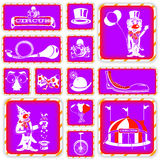 Clown squared icons Royalty Free Stock Image