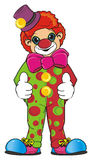 Clown stand and show gesture Stock Photo