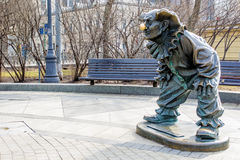 Clown statue, Moscow, Russia Royalty Free Stock Photo