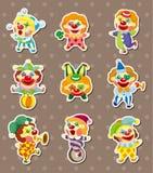 Clown stickers vector illustration