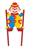 Clown on stilts Stock Photo