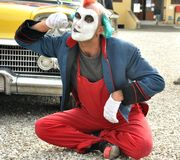 Clown street artist in Italy Stock Images