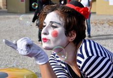 Clown street artist in Italy Royalty Free Stock Image