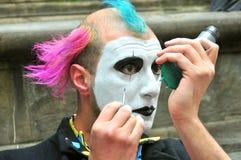 Clown street artist in Italy Stock Photo