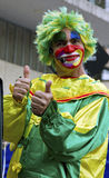 Clown at street in Sao Paulo Royalty Free Stock Image