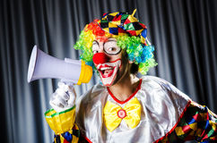 Clown in studio Royalty Free Stock Photos