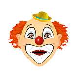The clown surprised, amazed. Emotion. Vector illustration of flat design. Stock Images