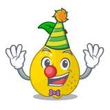Clown sweet quince isolated on mascot cartoon. Vector illustration stock illustration