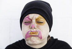 Clown with swollen face Royalty Free Stock Images