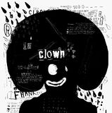 Clown. Symbolic image of the clown who laughs and cries Stock Photos